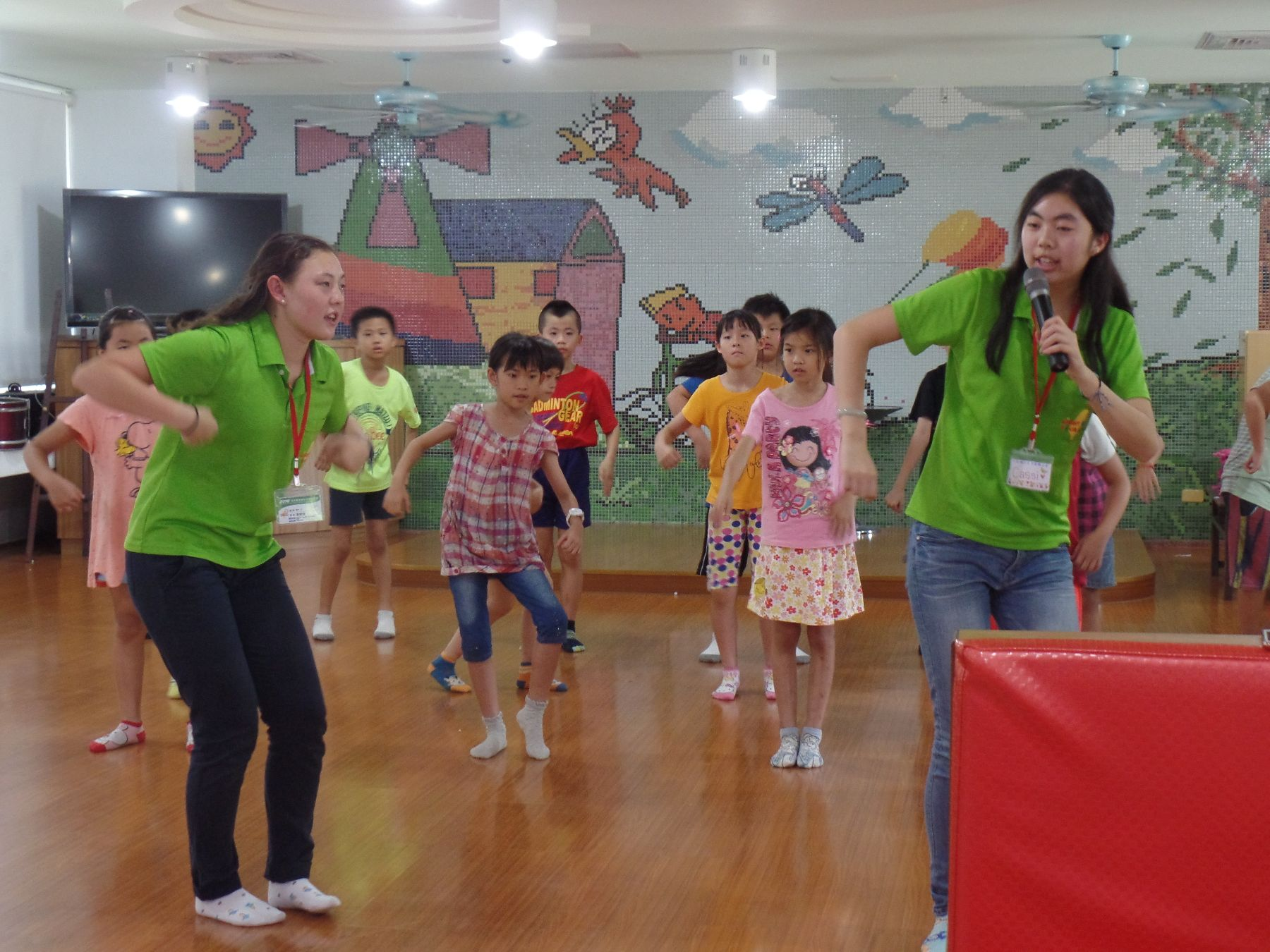 Dancing and singing course, Wen Chan Elementary School