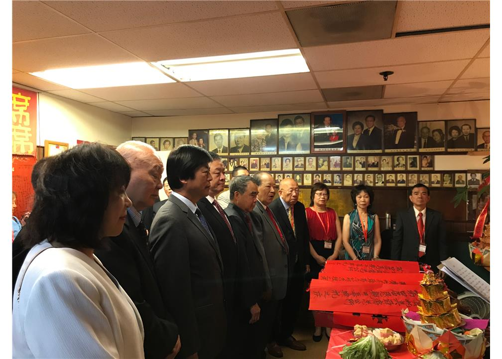 Vice Minister Roy Yuan-Rong Leu attended the 4th national convention  of Shun Yi Association of North America