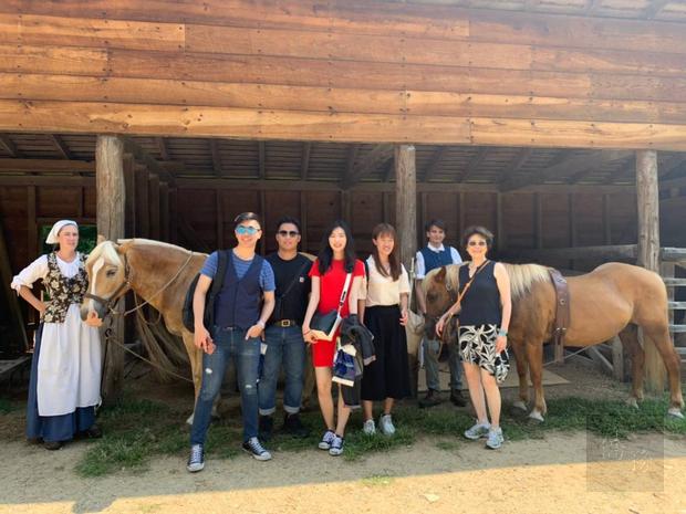 臺灣青年海外搭僑計畫華府組學員華盛頓故居參訪。