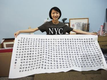Calligrapher beats disorder, uses art to bring people hope