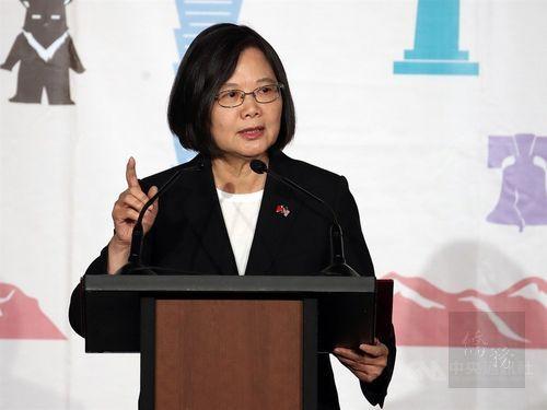 Taiwan will not succumb to pressure: President Tsai