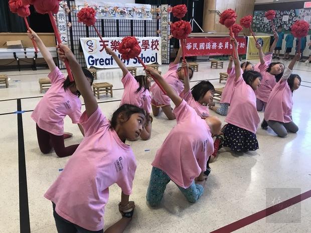 學生舞蹈表演。