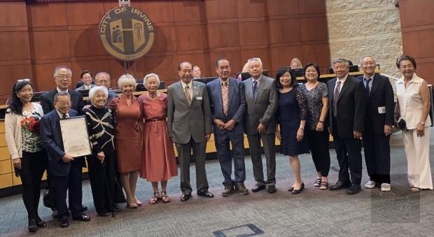 美國爾灣松柏會成30年 市府表揚傑出貢獻