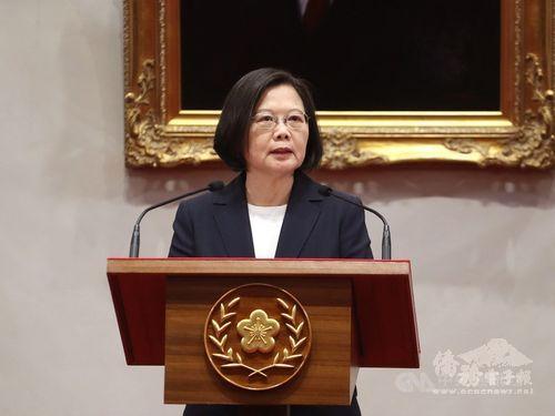 Taiwan will never succumb to threat: President Tsai