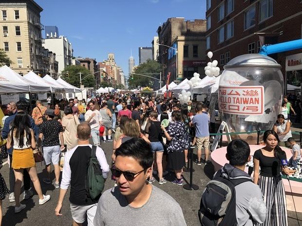 紐約珍奶節吸引紐約客及國際觀光客駐足,熱鬧非凡,現場人潮水泄不通