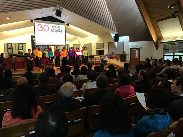 西雅圖四季合唱團30週年演唱會,約250位鄉親參加。