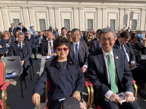 Vice President Chen attends canonization ceremony in Vatican