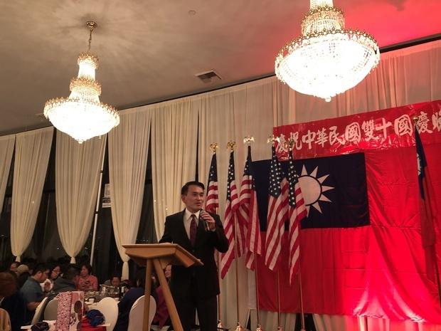 陳志賢致詞感謝政府及僑委會平時對海外鄉親的關心與照顧。