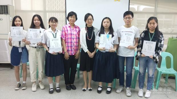菲律賓靈惠學院漢字文化節 獎勵獲獎學子