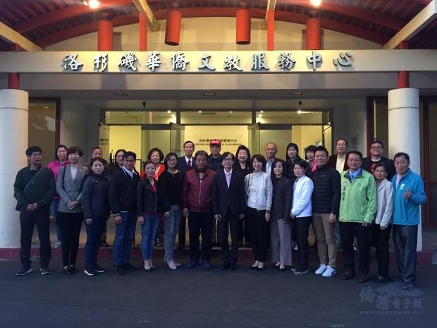 臺南市議會赴美訪問團拜會文教中心。