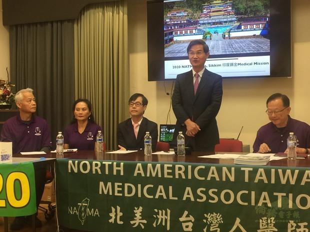 朱文祥感謝NATMA義診團成員深入錫金推展國民外交。