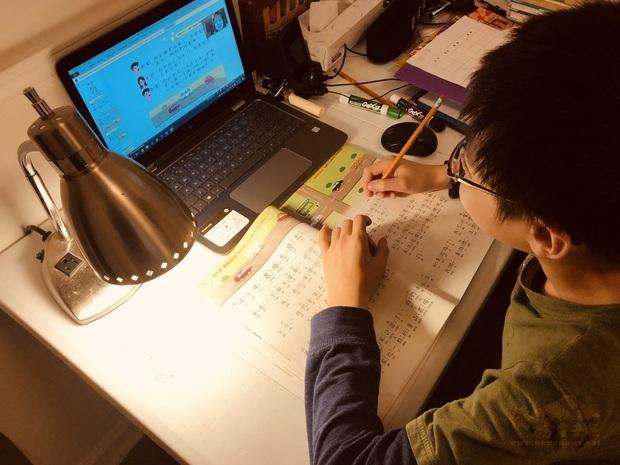 中文線上教學。(中華文化學校提供)