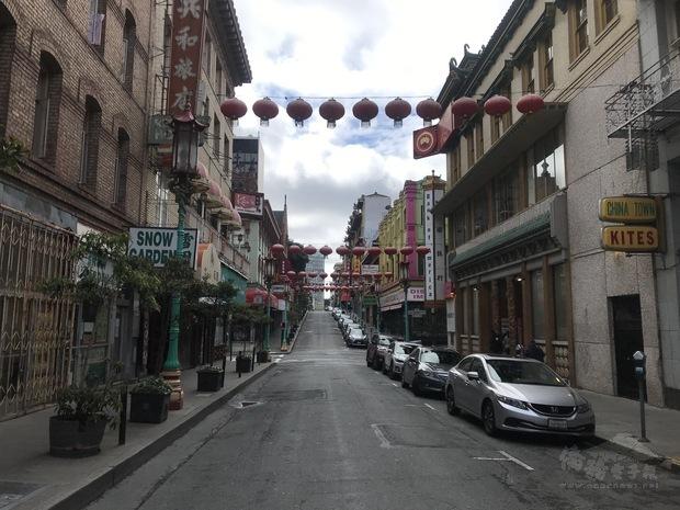 舊金山中國城疫情期間9成商家暫時停業。