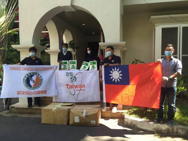 菲律賓臺灣同鄉會捐贈蘇比克灣都會管理局(SBMA)臺灣醫療物資。