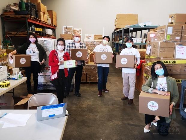波特蘭臺僑組織共同合作捐贈防疫物資。