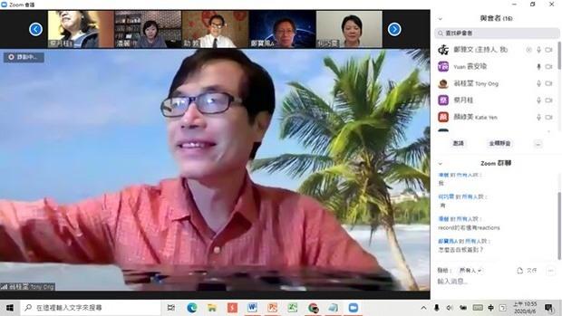 翁桂堂勉勵教師運用全球華文網等資源,充實遠距教學基本功。
