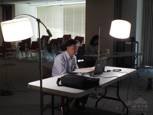 華府文教中心主任郭大文在2020年大華府地區中文學校校長線上座談會致詞。