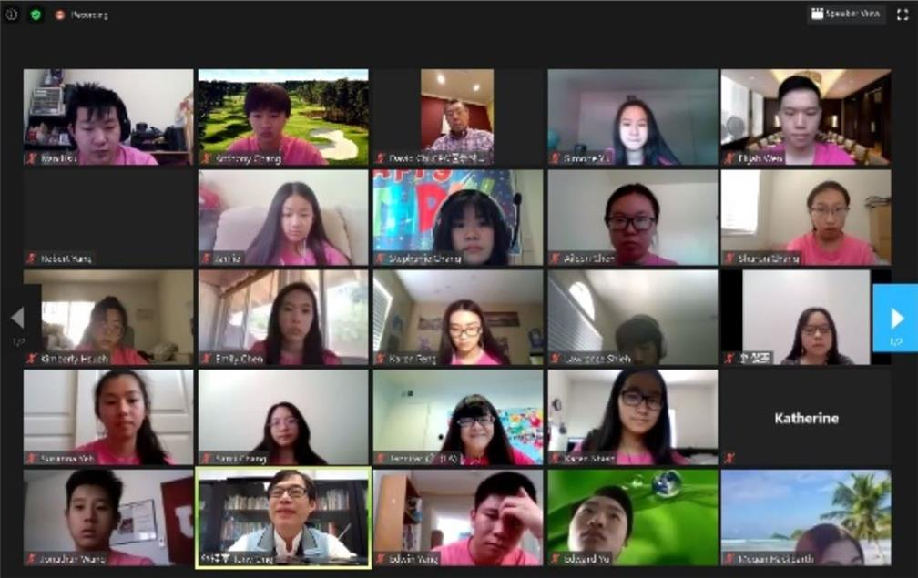 The FASCA members in Los Angeles took the online lessons to learn about  culture of Taiwan, campus life, and racial equality.