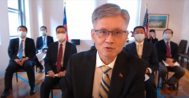 辦事處新任處長李光章參加紐約臺灣會館舉辦的線上歡迎會。