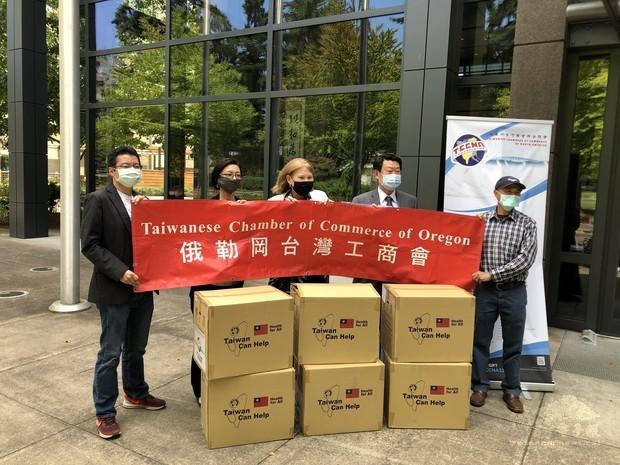 奧勒岡臺灣工商會捐MIT口罩 華盛頓州溫哥華市長感謝「及時雨」