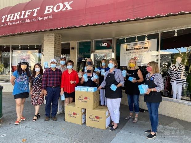 世台聯合基金會 、AABC 捐口罩助聖荷西弱勢防疫