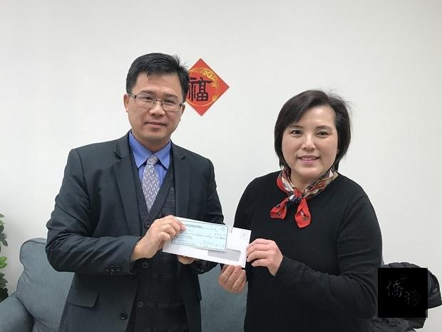 北加州中國大專校友會聯合會捐贈獎學金