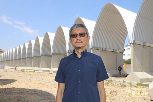 土耳其哈泰省雷伊漢勒巿興建台灣-雷伊漢勒世界公民中心將完工,駐土耳其代表鄭泰祥(圖)10日訪視營造進度。(中央社提供)