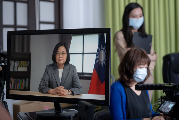 President Tsai delivers remarks at a videoconference co-hosted by the Hudson Institute and the Centers for American Progress.