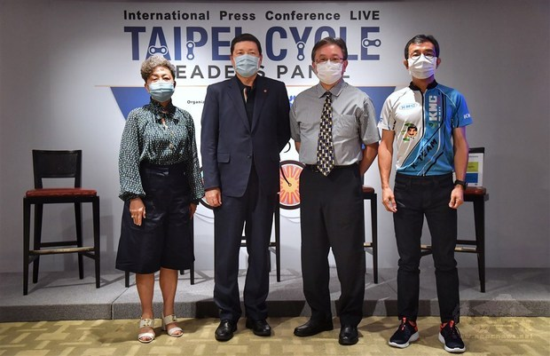 TAITRA announces the 2021 Taipei Cycle Show in a press conference./Photo courtesy of CNA