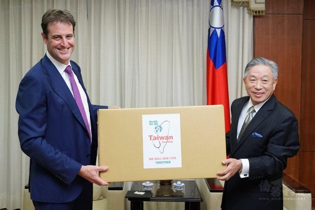 Face masks donated by Taiwan to Australia arrive in Victoria