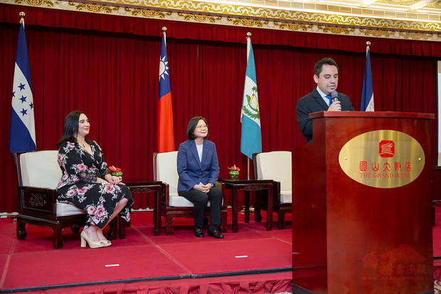 President Tsai attends reception for 199th anniversary of Central American independence