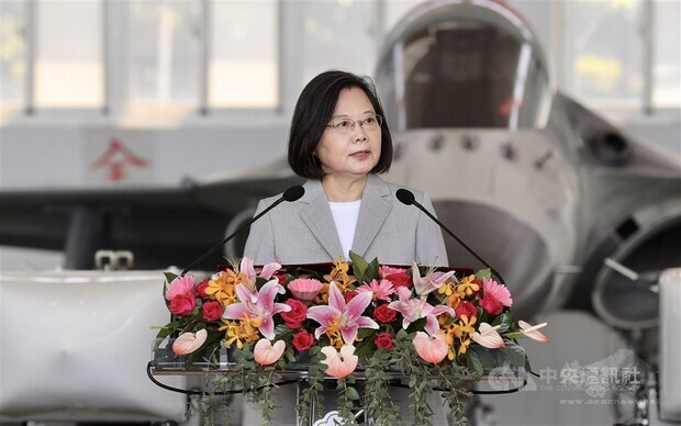 President Tsai pledges to defend Taiwan's airspace