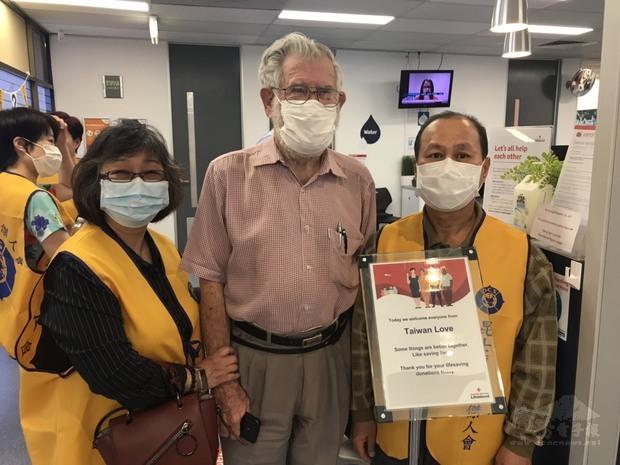 僑胞熱心響應「Taiwan Love」捐血活動。