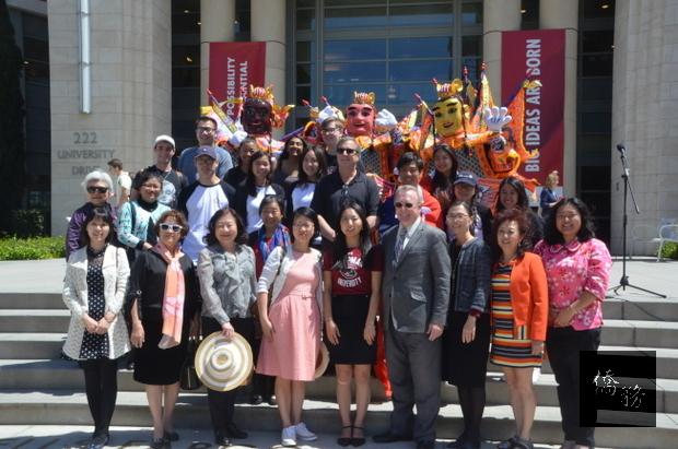 查普曼大學台灣文化遊園會得到校方和社區支持。(世界日報提供)