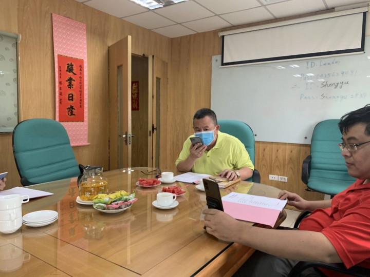洪志華會長偕會職幹部召開線上會議