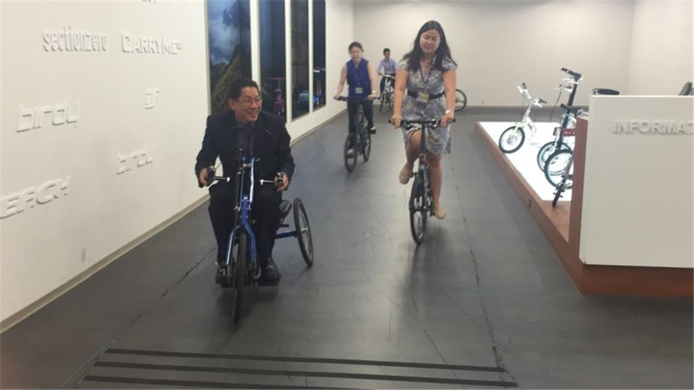 Participants enjoyed a bike ride