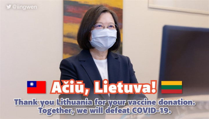 Taiwan thanks Lithuania for pledged COVID-19 vaccine donation