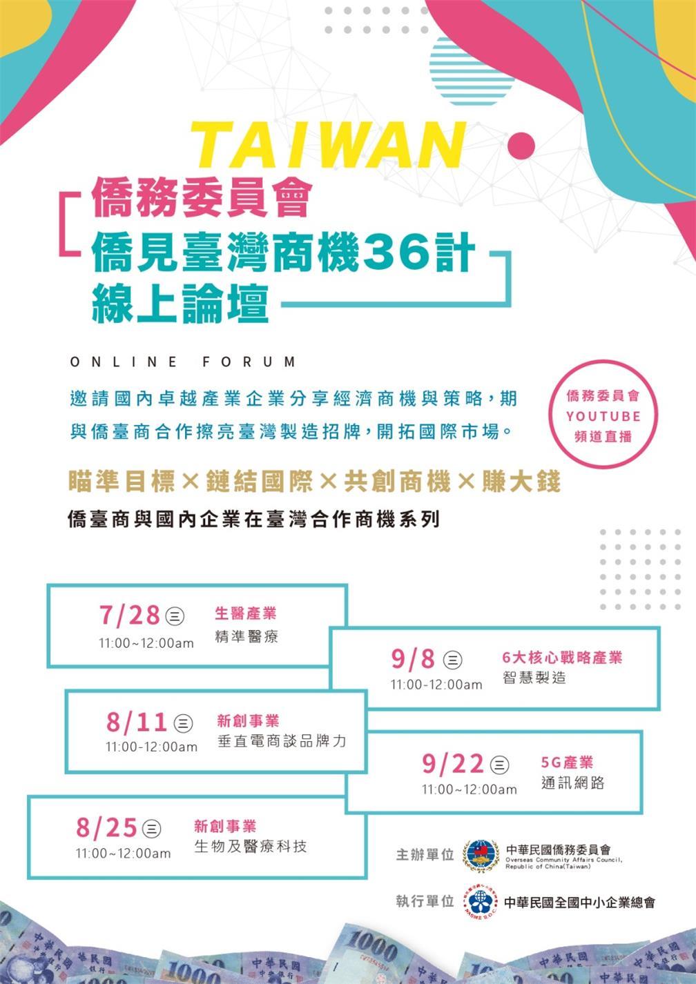 「侨见臺湾商机36计」线上论坛 EDM