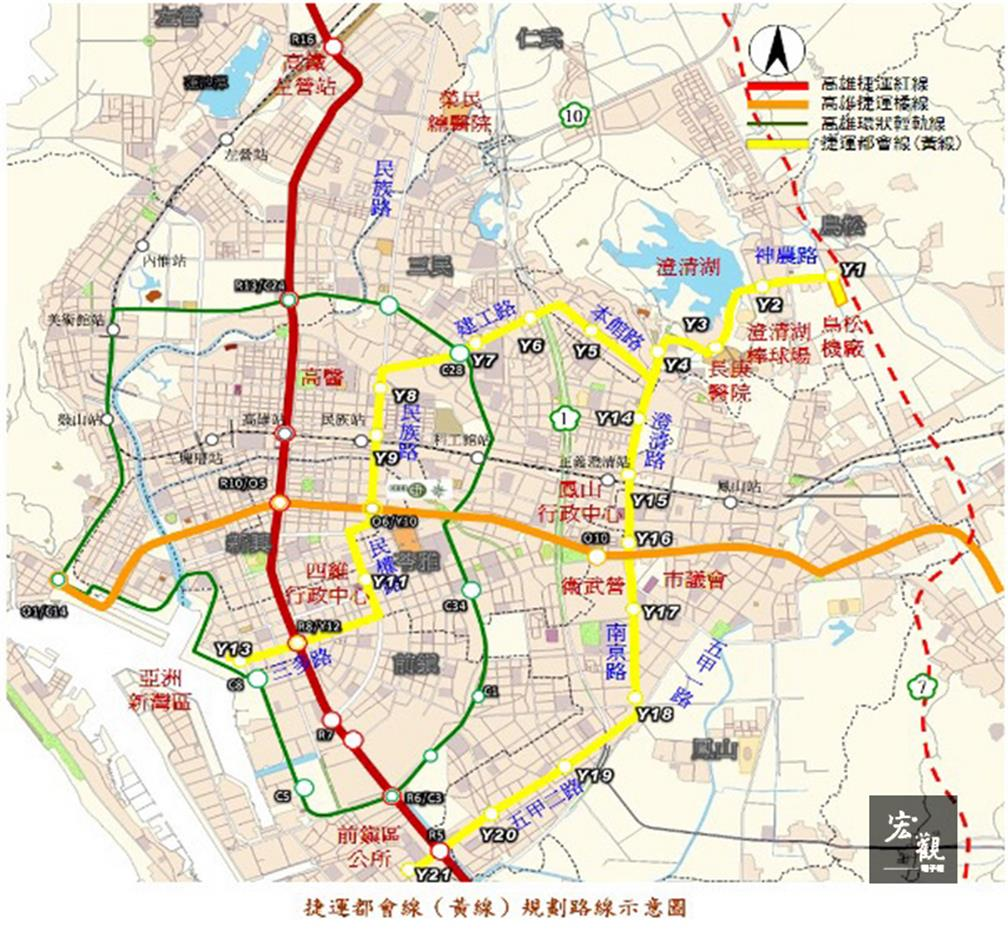 Kaohsiung plans to build third MRT line within 8 years