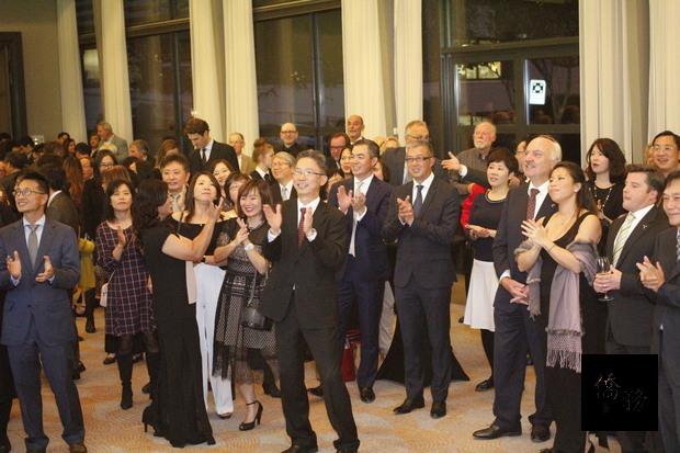 駐荷蘭代表處10月4日晚間在海牙舉辦中華民國106年國慶酒會。(駐荷蘭代表處提供)