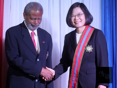 President Tsai decorated in Belize