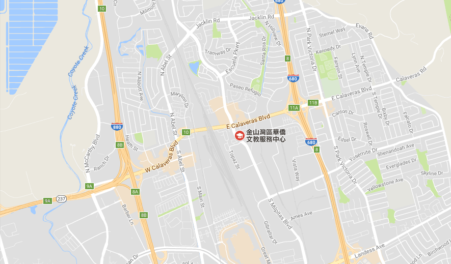 Location Map to Culture Center of Taipei Economic and Cultural Office in San Francisco (Milpitas) , U.S.A..png