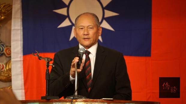 美京中華會館主席李燦民致詞。