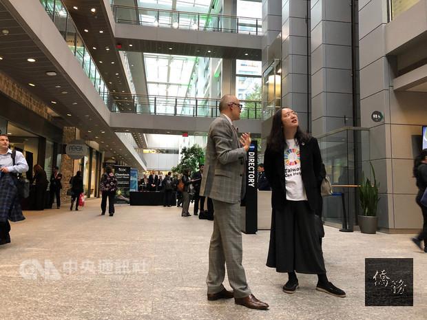 行政院政務委員唐鳳訪問加拿大,首站走訪創新人才匯集的「多倫多新創中心」。