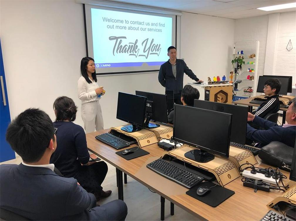 A group from the Taiwanese Junior Business Association New Zealand visits the Company 3D Mind