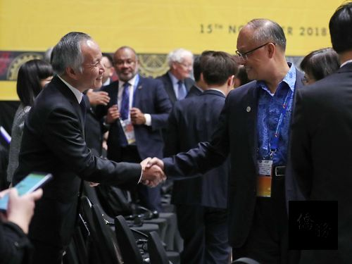 Taiwan officials interact with counterparts at APEC Ministers Meeting