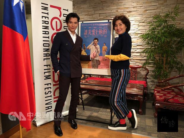 台灣電影「誰先愛上他的」明晚在多倫多亞洲國際電影節開幕典禮首映。導演徐譽庭(右)與男主角邱澤(左)兼程自台飛抵多倫多,出席8日首映會並於7日舉行記者會。