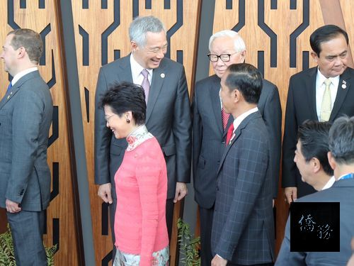 Taiwan rep interacts with foreign leaders at APEC summit