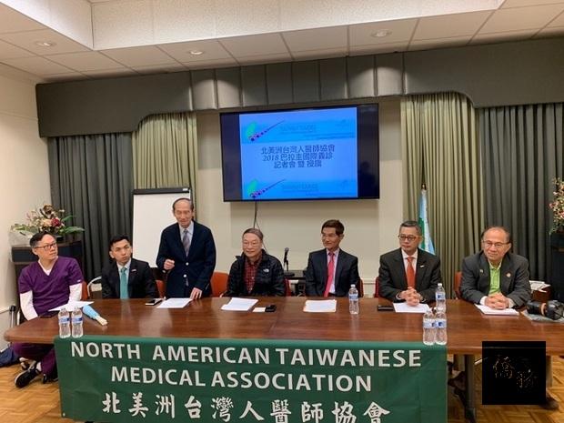 左起:義診團牙科主任鄭敦仁、廖建勛、許正雄、邱俊杰、朱文祥、程冠穎、林榮松。