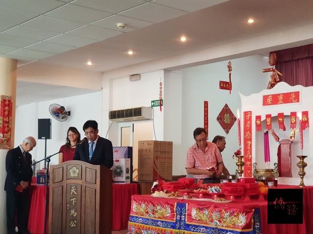 主任委員鍾金峰致詞。
